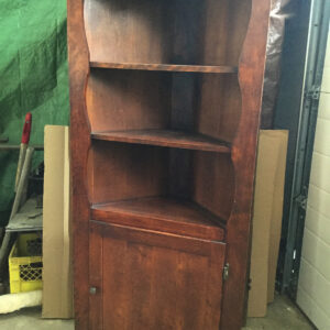 Country style wooden corner cabinet