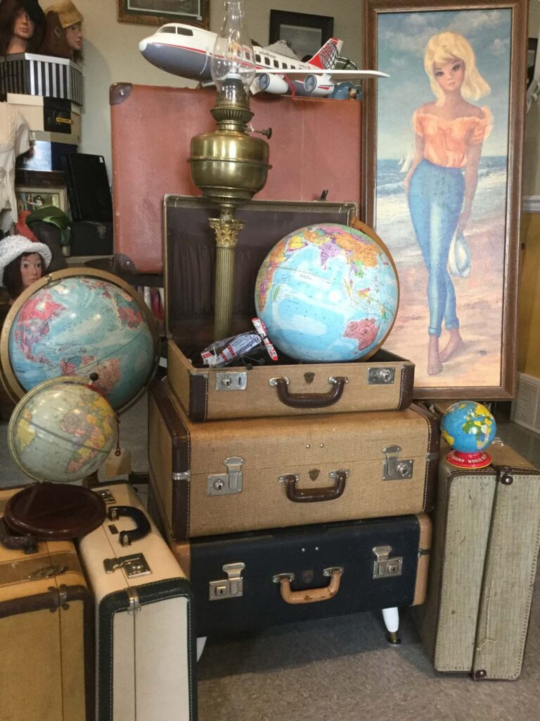 Vintage Globes and Suitcases