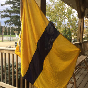 Vintage maritime alphabet flags yellow and black
