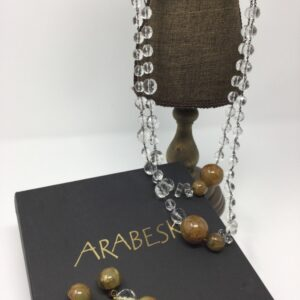 Arabesk glass necklace & matching earrings